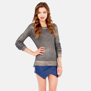 Anthropologie Sweaters - Bardot Metallic Printed Sweater